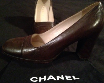 CHANEL - Shoes dark brown Vintage