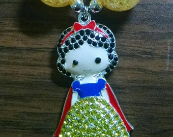 Snow White Princess Toddler Bubblegum Necklace