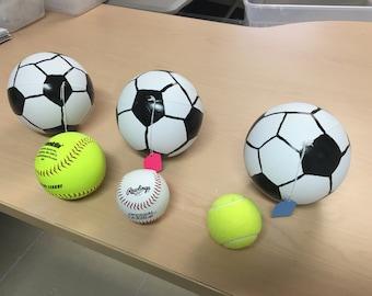 3 Gender Reveal Soccer Balls