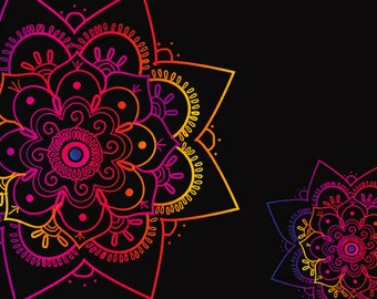Rainbow Mandala Instant download