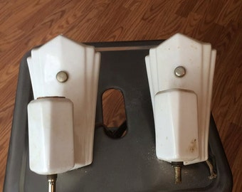 Vintage Art deco wall lights lamps