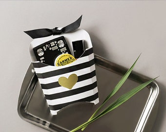 5set stripe party favor complete packaging set. wedding favor, favor box, gift box, gift box, gift bags, favor box with ribbon