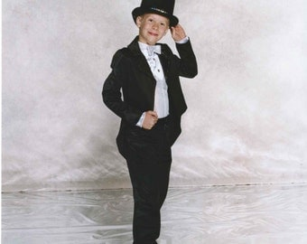 Tuxedo Black Formal Figure Skating Costume