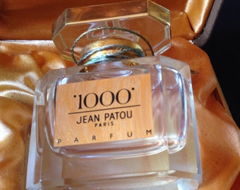 Box perfume 1000 Jean Patou years 1980-90