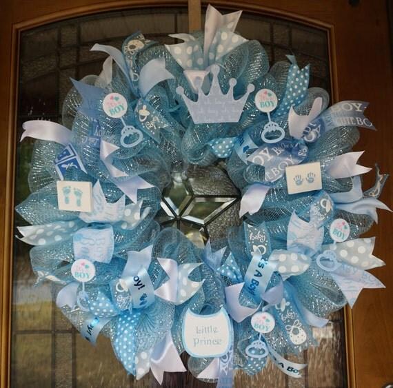 baby wreath baby shower wreath baby boy wreath boy wreath baby