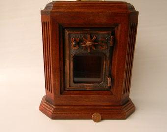 Octagon mahogany wooden post office door bank