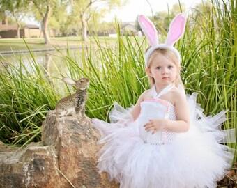 Easter dress - Easter bunny tutu dress - easter tutu dress - rabbit tutu dress - bunny tutu dress - tutu dress - white tutu dress - easter