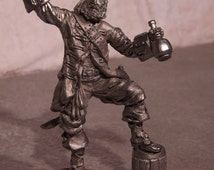 Tin Soldier - Pirate with Barrel of Rum