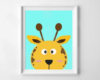 Giraffe Print | Animal Nursery Print | Nursery, Child's room decor | Digital Download