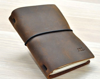 Leather Journal Traveler's Notebook journals for men Leather Notebook Retro leather