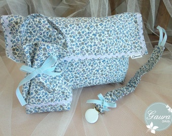Kit_gaura_Kids: Chupetero-dummy-diaper bag / Diaper bag-Pacifier pod-Pacifier holder / Sac à couches Attache sucette Sac sucette