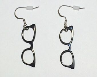 Eyeglass Earrings Black