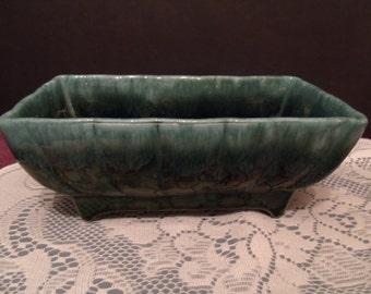 Vintage green Glazed Planter, 405 usa marking, (# 619/28)
