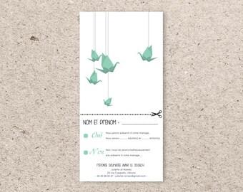 Coupon response wedding - Origami