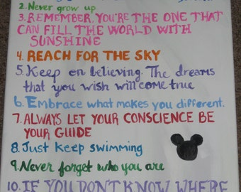 Disney House Rules Canvas Painting