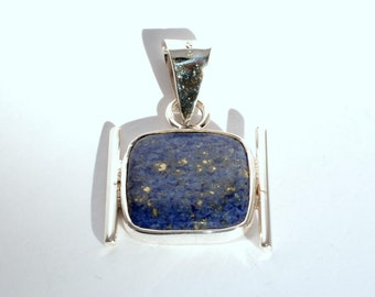 Sterling Silver Pendant with Lapis-lazuli