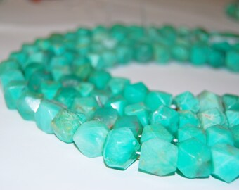 Wholesale Natural Green Chrysoprase Nugget Gemstone Loose Beads For Jewelry Making 11x10mm.I-CHR-0377