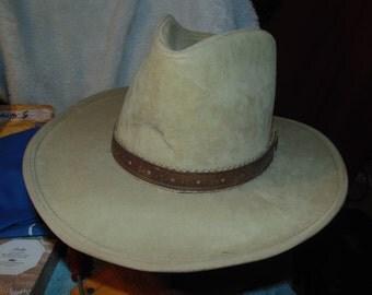 vintage adam cowboy rancher boss hat