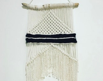 Large Macrame wall hanging with Angora weaving