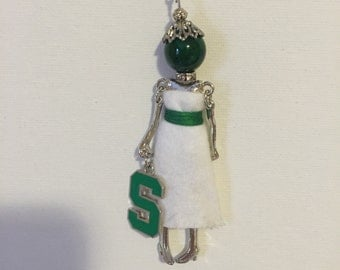 Michigan State Doll Necklace
