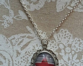 Winter Soldier Star silver necklace