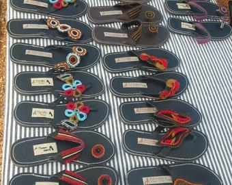 Beaded thong sandals from Kenya