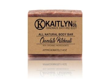 Chocolate Patchouli Soap, All Natural, Handmade, Vegan