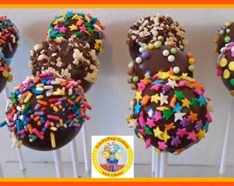 Chocolate Cake Pops/Cake Truffle/Male Birthday Gift/Female/Chocolate Truffle/Novelty Cake/Kids Birthday/Children/Edible Favours/Men women