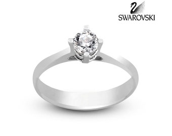 Swarovski Solitare ring R1290WW