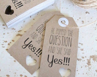 Rustic Engagement / Wedding Tags Pk20