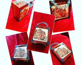 Leopard Cigar Box Purse by Jewelz