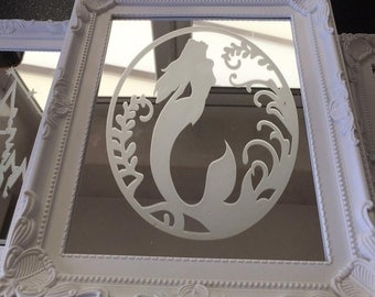 Engraved Mermaid Mirror