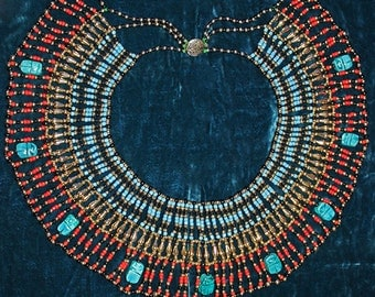 Gorgeous Vintage Tribal Statement Necklace