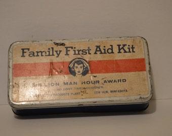 Family First Aid Kit Tin