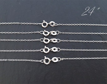 "Wholesale Chain, Sterling Silver Chain, Silver Chain, Sterling Chain, Silver Chain Bulk, 24"" Chain"