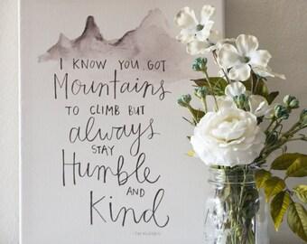 Humble & Kind Print
