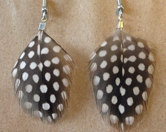 Sootted Guinea Fowl Earrings