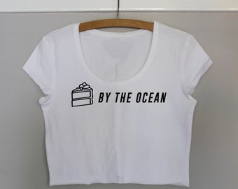 Cake By The Ocean Crop Tee WHITE