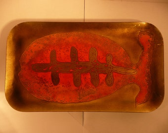 Maggie Howe Mexico Fish Platter Enamel on Copper