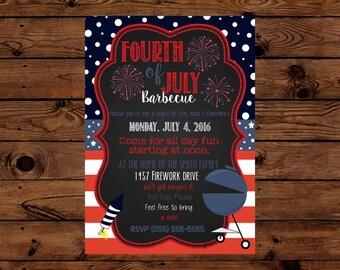 Fourth of July Barbecue Invitation
