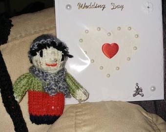 Wedding card and lucky Sweep keepsake with charm