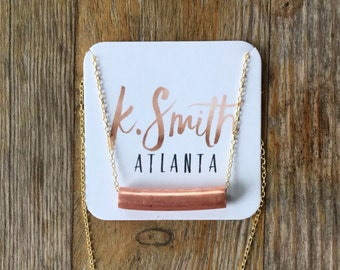 K.Smith Atlanta Copper Bar Necklace
