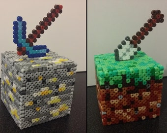 Block 3D / pot pencil Minecraft beads