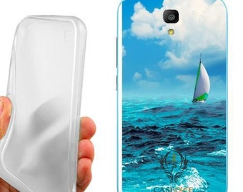 Case cover skin boat at sea for huawei y560