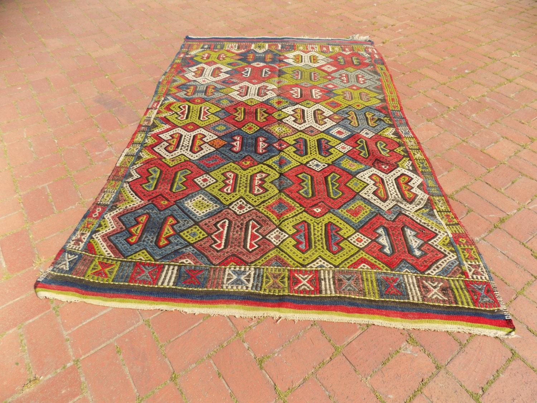 tapis color fly color tiss la main brod tapis kilim bohemian - Tapis Color Fly