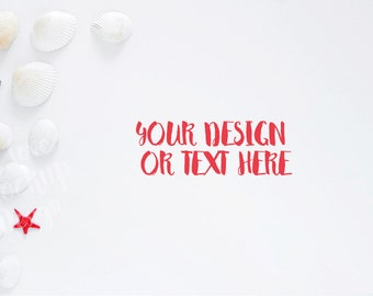 Anchor,  Shells and Red Star on White Background / Stock Photography / Product Mockup / High Res File