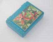 jewelry storage Plastic box orchid illustration jewelry casket Decor for children gift for princess Treasure Box organizer vintage storage