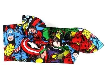 Marvel Heaiband Super Heros Hairband, Wide Hair Wrap, Marvel Headband