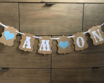 Gorgeous First Birthday Party Decoration, boy girl 1st one bunting banner garland