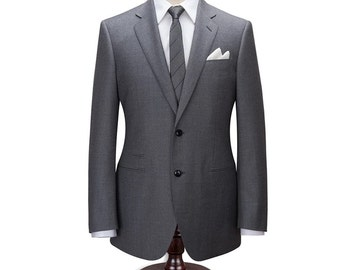 Grey Suit/ Custom Fitted Suit/ Men's Grey Suit/ Made Made Suit